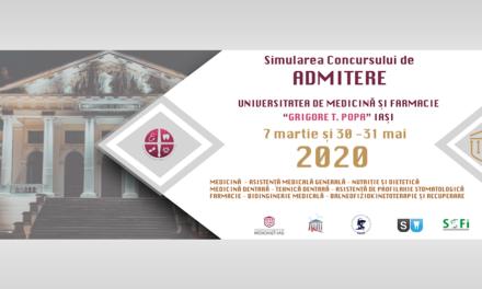 Instrucțiuni pentru participarea la Simularea Concursului de Admitere la UMF Iași