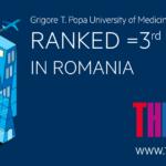 UMF Iași, al patrulea an consecutiv în clasamentul internațional al universităților realizat de Times Higher Education