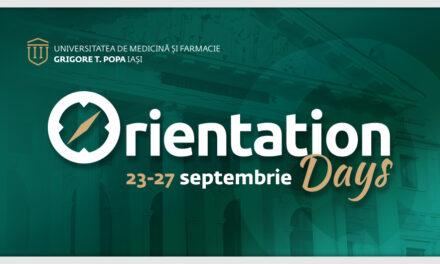 Orientation Days: Program de orientare și integrare pentru bobocii de la UMF Iași