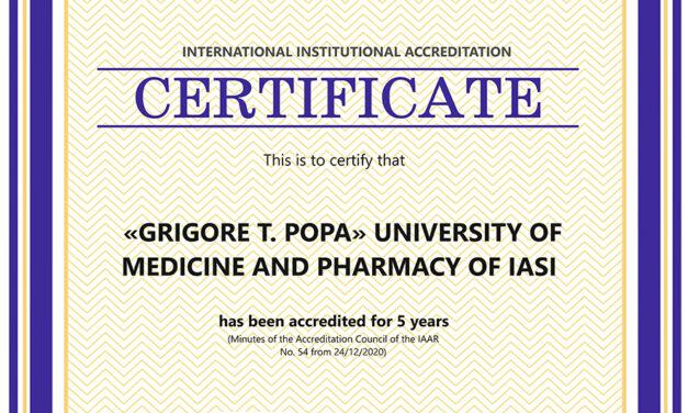UMF Iași a primit acreditarea WFME