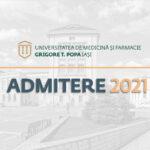 Metodologia concursului de admitere pentru anul universitar 2021/2022
