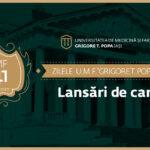 """Lansări de carte ale Editurii """"Gr. T. Popa"""" cu ocazia Zilelor UMF Iași"""