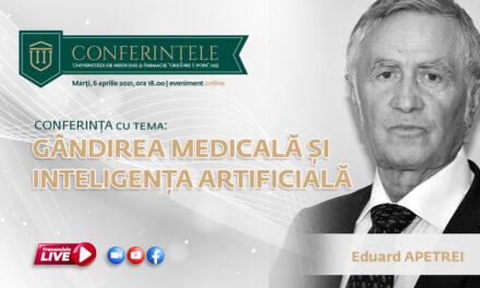 Prof. univ. dr. Eduard Apetrei conferențiază la UMF Iași