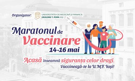 Maraton de vaccinare la UMF Iași: trei zile, non-stop, fără programare