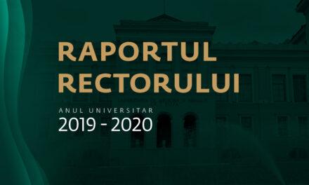 Raportul rectorului UMF Iași, pentru anul universitar 2019-2020