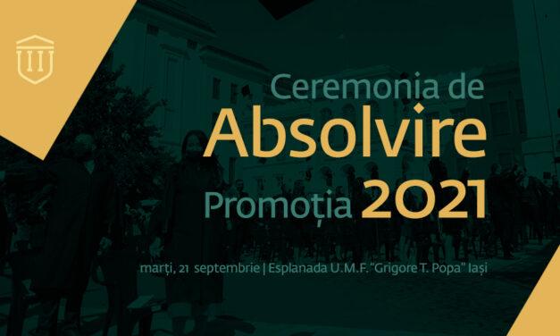 Promoția 2021 a UMF Iași depune Jurământul lui Hipocrat
